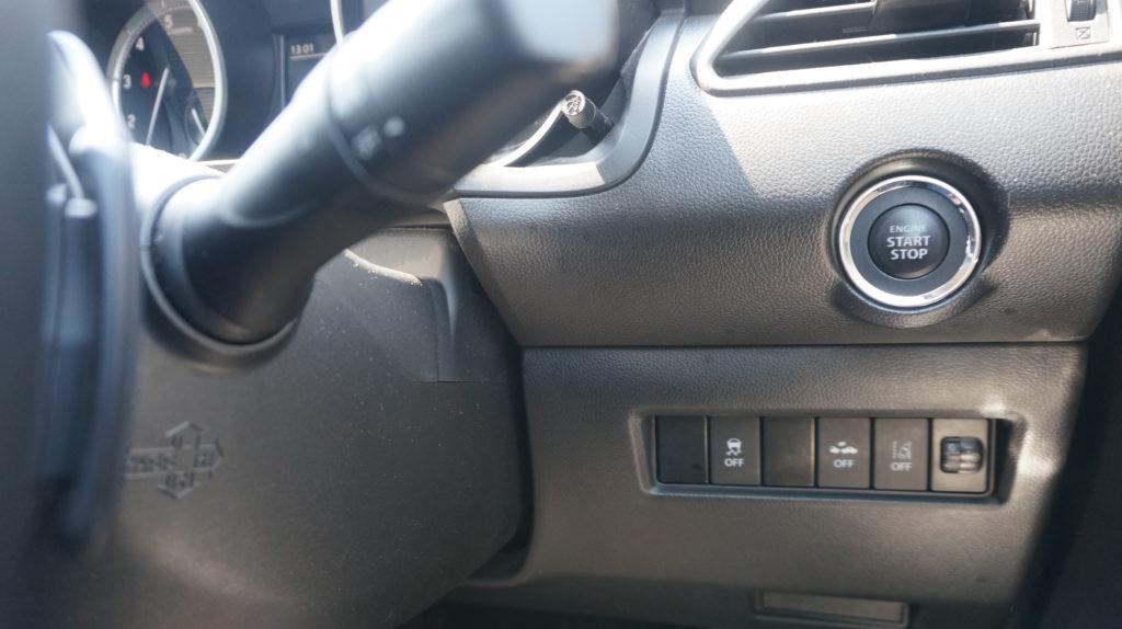スイフト エンジンボタン