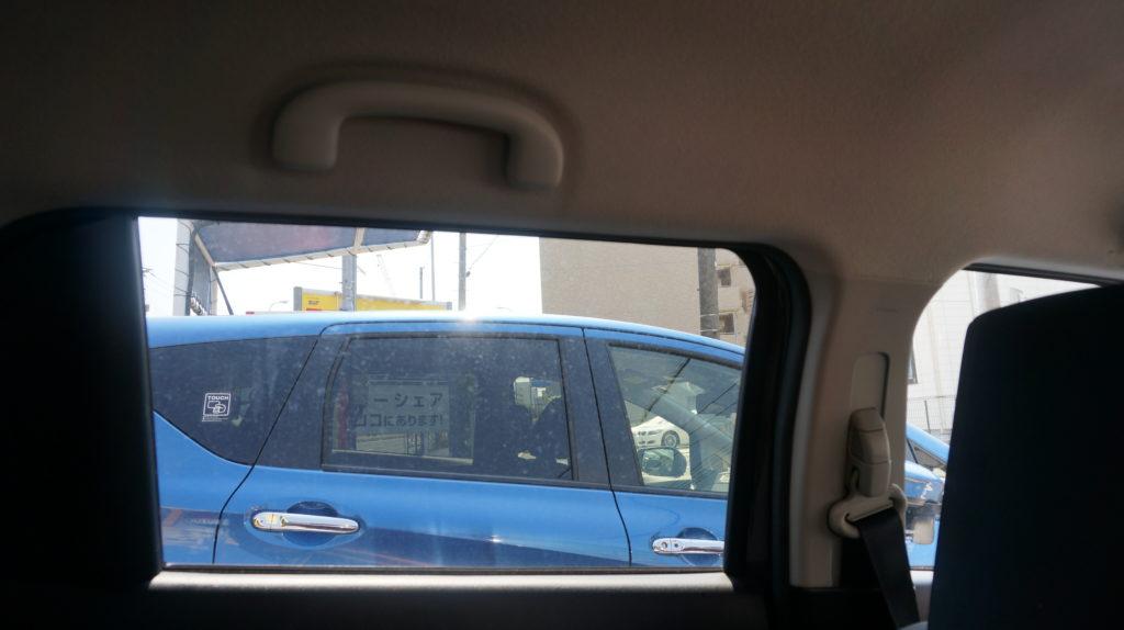 スイフト後部座席窓